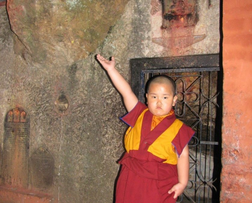 Taksham Tulku Tenzin Gyurme Thinley Dorjee reads the Jewel Mala